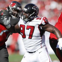 nfl, Grady Jarrett, atlanta falcons, wire