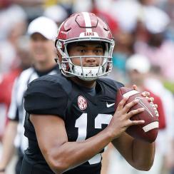 Alabama football QB Tua Tagovailoa SEC Media Days 2019