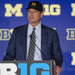 Jim Harbaugh sounds off on transfers, eligibility, mental health