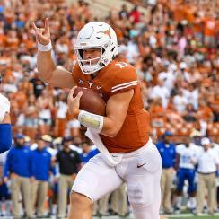 College football odds betting Texas over under wins Sam Ehlinger
