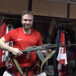 Russian hockey: Izhstal Izhevsk awards AK-47 to Saveli Kononov