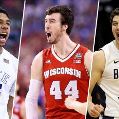 College basketball all decade team 2010s Duke Wisconsin BYU