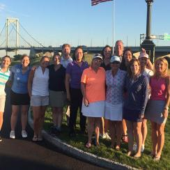 The whole group from Women's Golf Day at Ferry Point. A great evening!