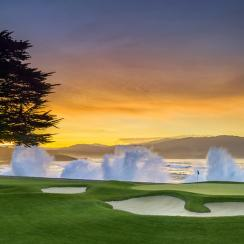 The golf gods and a Pacific baptism await on Pebble's monumental 18th.