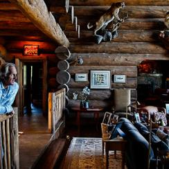A shark may seem out of place in the mountains, but not when it's Greg Norman, who looks right at home in his rustic, palatial Colorado estate.