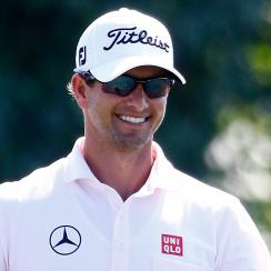 Adam Scott and wife Marie Kojzar are expecting their first child in February.