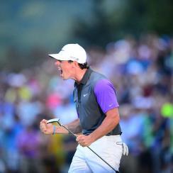 Rory McIlroy celebrates his victory at the 2014 PGA Championship at Valhalla.