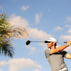 Dustin Johnson at the 2014 Cadillac Championship at Doral.