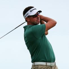 Robert Allenby of Australia tees off on the 17th hole during the second round of the Sony Open In Hawaii.