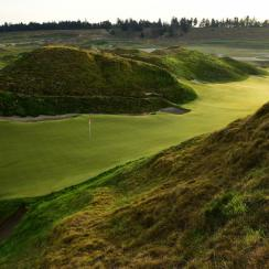 The par-4 10th hole. The U.S. Open marks the first major to be played in the Northwest since the 1998 PGA, at Sahalee C.C.