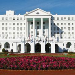 The front entrance at the Greenbrier.