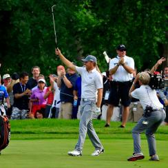 Jordan Spieth won his fourth tournament of the season Sunday at the John Deere Classic.