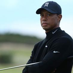 Tiger Woods of the United States looks on from the 11th hole during the second round of the 144th Open Championship at The Old Course on July 17, 2015 .