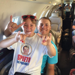 Ellie Spieth, with Jordan, has lofty career expectations for her brother.