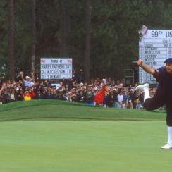 At the 1999 U.S. Open at Pinehurst, Stewart won his third and final major. He made an 18-foot putt on the 18th green to edge Phil Mickelson by one stroke. Four months later on Oct. 25, 1999, Stewart died in a plane crash.