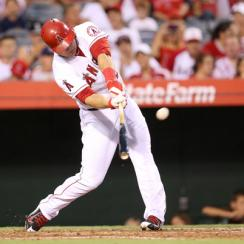 Trout hits a solo home run against the Houston Astros.