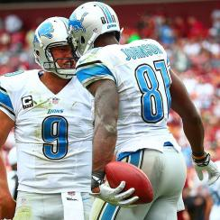 Matthews Stafford (left) and Calvin Johnson form one of the most potent fantasy tandems in the NFL.