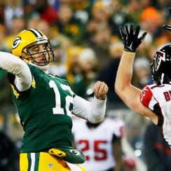 Falcons put in promising effort, but can't outlast unstoppable Rodgers, Packers