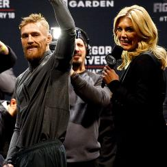 Charissa Thompson interviews MMA fighter Conor Macgregor.