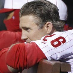 Chase Utley is hitting just .120 with 10 strikeouts and only two walks in 56 plate appearances.