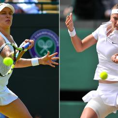 Eugenie Bouchard and Petra Kvitova have only played each other once in their careers -- on hard courts in Toronto -- and Kvitova won in straight sets.