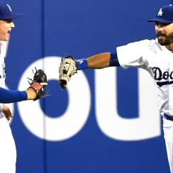 Joc Pederson (left) and Andre Ethier are part of a Dodgers outfield that has become one of the majors' best.