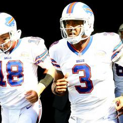 Kyle Orton (left) will start instead of EJ Manuel against the Detroit Lions in Week 5.