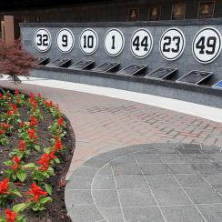 Monument Park at Yankee Stadium is host to plaques and statues commemorating the best and most memorable players in team history.