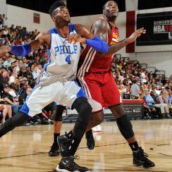 Nerlens Noel (left), who missed last season with a knee injury, has been getting his feet wet during summer league action in Las Vegas and Orlando.