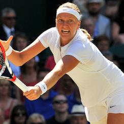 2011 Wimbledon champion Petra Kvitova has reached her second Wimbledon final with a straight-set win over Lucie Safarova.