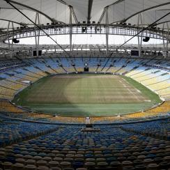 An overview of the field at Estadio Maracana, where fans will watch Argentina battle it out with Bosnia and Herzegovina on June 15th.