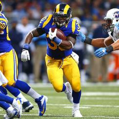 Zac Stacy rushed for 973 yards and seven touchdowns in his rookie season with the St. Louis Rams last year.