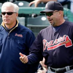 Frank Wren (left) and Fredi Gonzalez have been GM and manager together since the 2011 season.