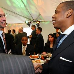 Though he loved the NBA as a teen, Adam Silver never dreamed he'd hobnob with the likes of Jay Z.