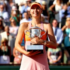 Maria Sharapova defeated Simona Halep to win her second French Open title and fifth Grand Slam title.
