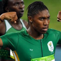 Caster Semenya wins gold