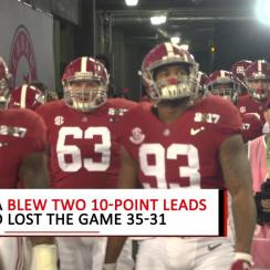 Nick Saban: I'll 'never get over' National Title game loss to Clemson