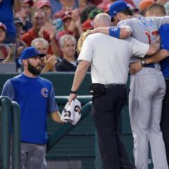 Cubs third baseman Kris Bryant exits game with Injury