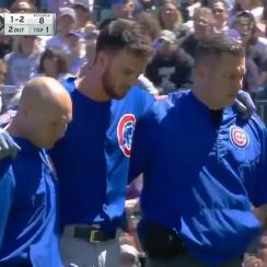 Cubs' Kris Bryant Leaves Game After Being Hit By Pitch