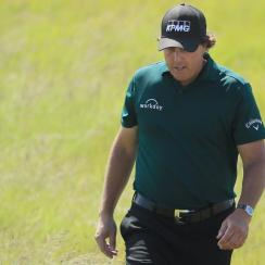 Phil Mickelson Makes Ten After Striking Moving Ball On 13th Green