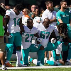 Dolphins Could Fine or Suspend Players Who Do Not Stand for the National Anthem