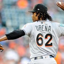 Marlins' Jose Urena Suspended Six Games for Throwing at Braves' Acuna Jr.