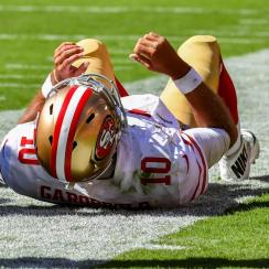 49ers Quarterback Jimmy Garoppolo Done for the Season After Tearing ACL