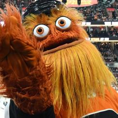 Flyers 'Mascot Gritty Receives Write-In Votes in Recent Election