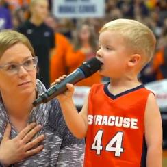 3-Year-Old Becomes Syracuse's Youngest National Anthem Singer in Carrier Dome History