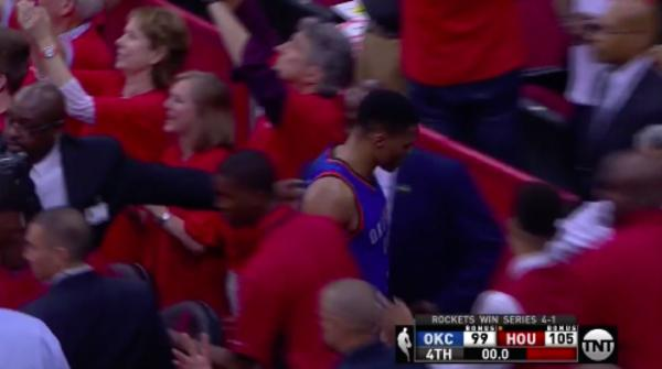 Russell Westbrook exits without shaking hands with Rockets