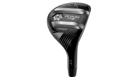 Taller Baffler sole rails than in previous Cobra hybrid models help the King F8 hybrid prevent digging at impact.