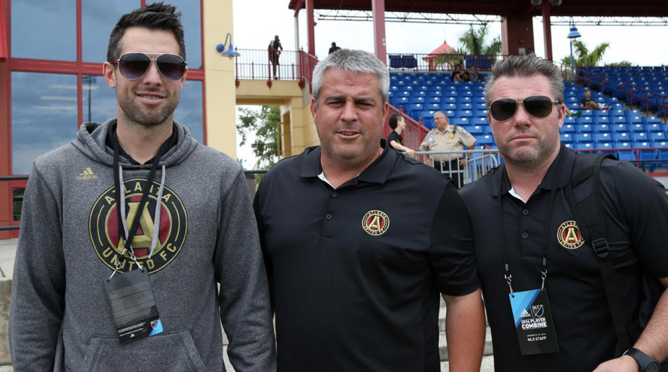 Atlanta United FC's technical staff at the MLS combine