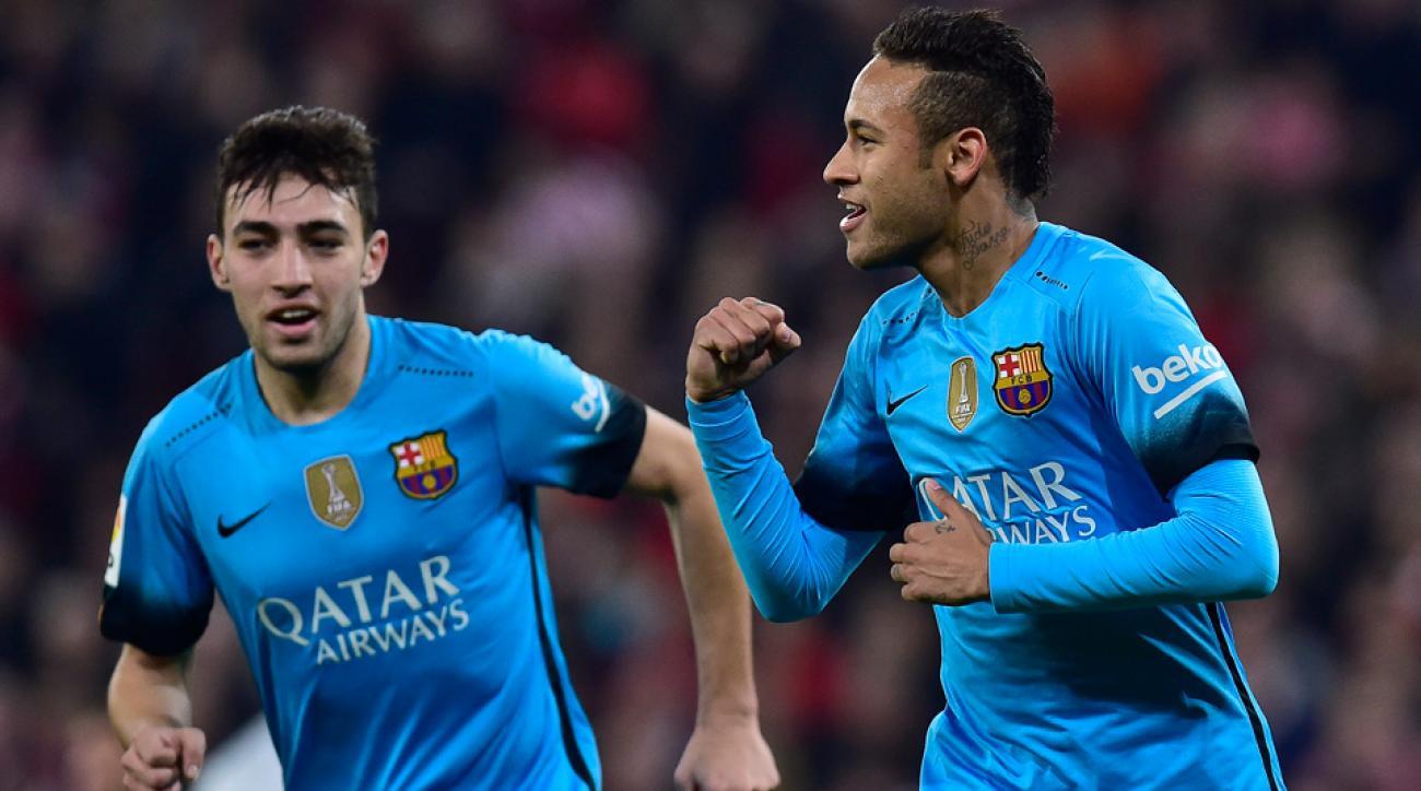 Neymar, Munir El Haddadi score in Barcelona's Copa del Rey win at Athletic Bilbao