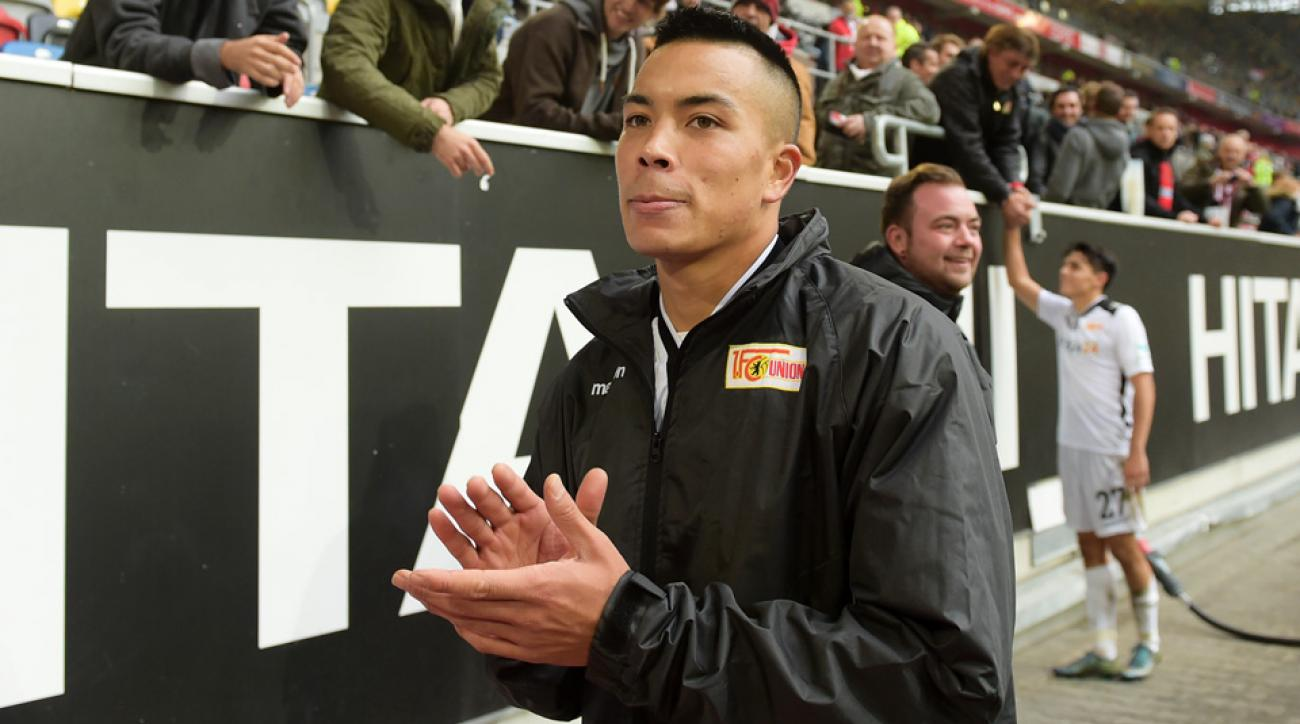 Bobby Wood scored his eighth goal of the season for Union Berlin